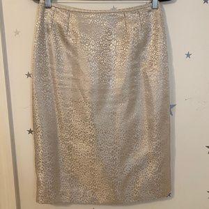 Gold Cheetah Print Skirt